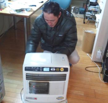 暖房器具が大活躍です