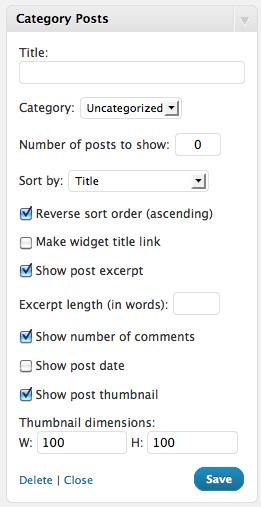 「最近の投稿」ウィジェットで表示するカテゴリーを選びたい