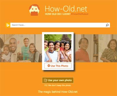 写真で推定年齢を当てる大人気アプリ