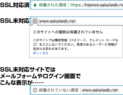 Google Chromeでの表示